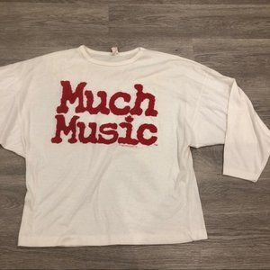 Vintage Much Music 1985 Top Size M/L